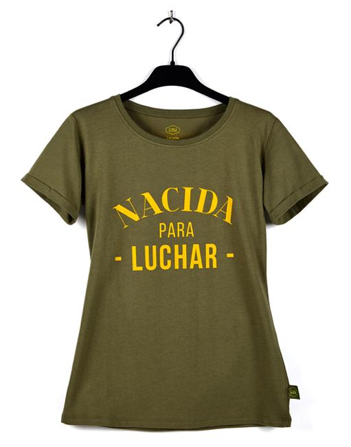 Camiseta Verde Malamadre 'Nacida para luchar'