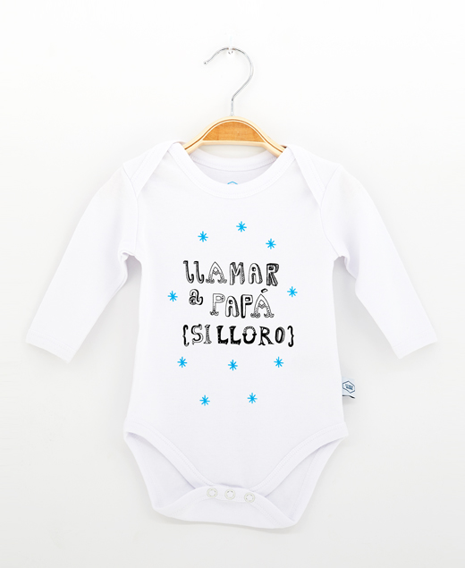 """Body bebé """"Llamar a papá, si lloro"""""""