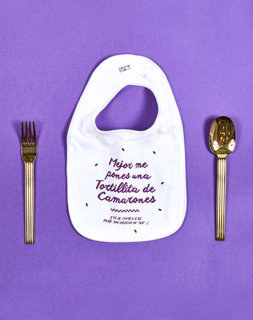 """Babero """"Tortillita de Camarones"""""""
