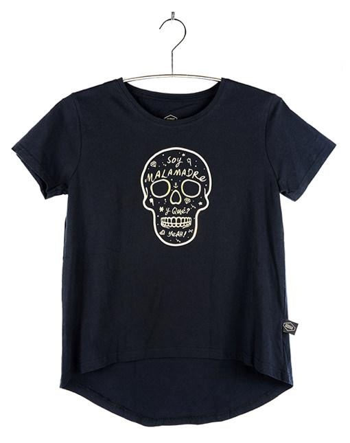 """Camiseta Golden """"Soy malamadre y Qué?"""" Calavera"""