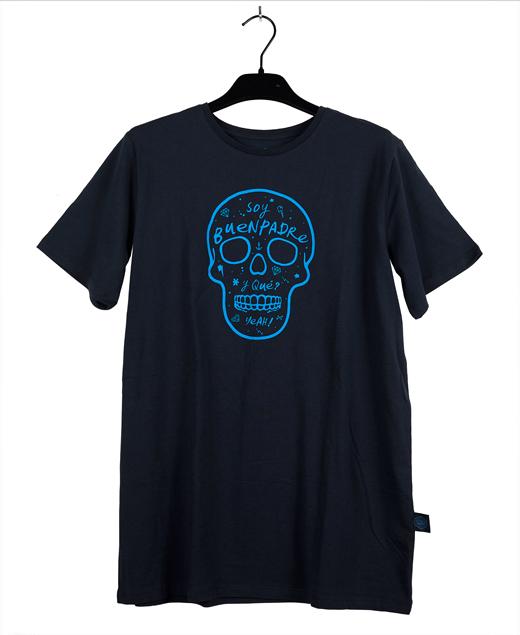 """Camiseta azul marino """"Soy buenpadre y Qué"""""""