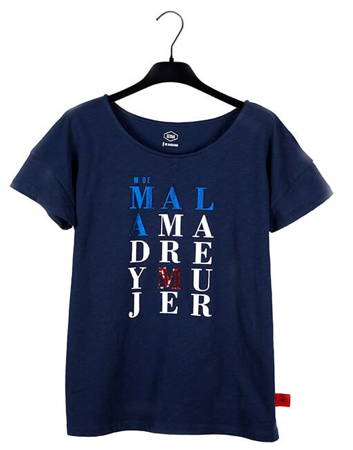"Camiseta Azul ""M de Mujer"""