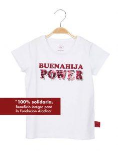 Camiseta blanca 'Buenahija Power'