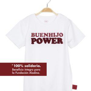 Camiseta blanca 'Buenhijo Power'