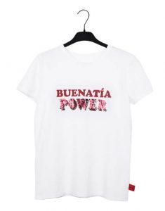 Camiseta blanca 'Buenatía Power'