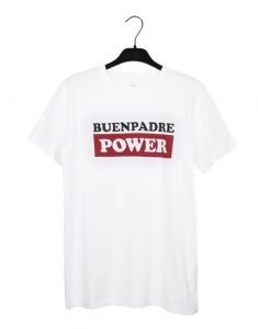 Camiseta blanca 'Buenpadre Power'
