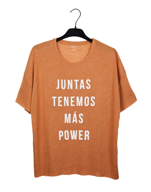"""Camiseta marrón 2018 """"Juntas tenemos más power"""""""