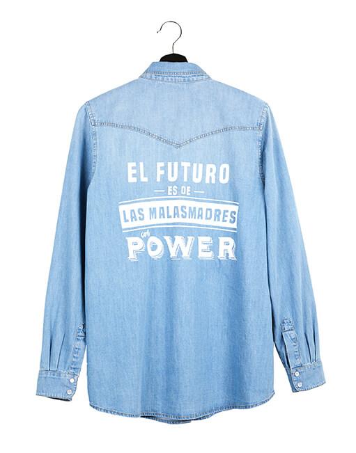 Camisa vaquera 'Malamadre Power'