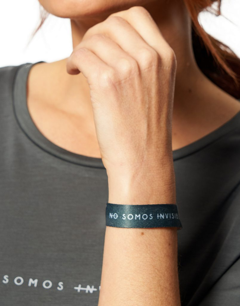 "Pulsera ""No somos invisibles"""