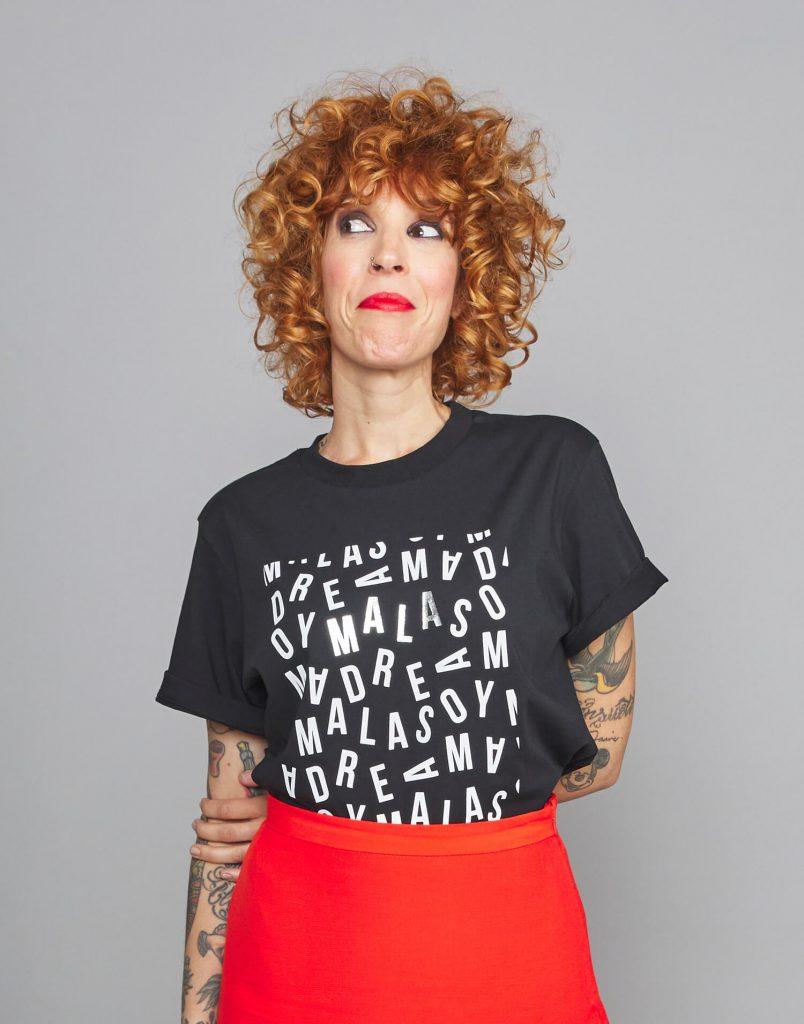 Camiseta negra 'Soy Malamadre'