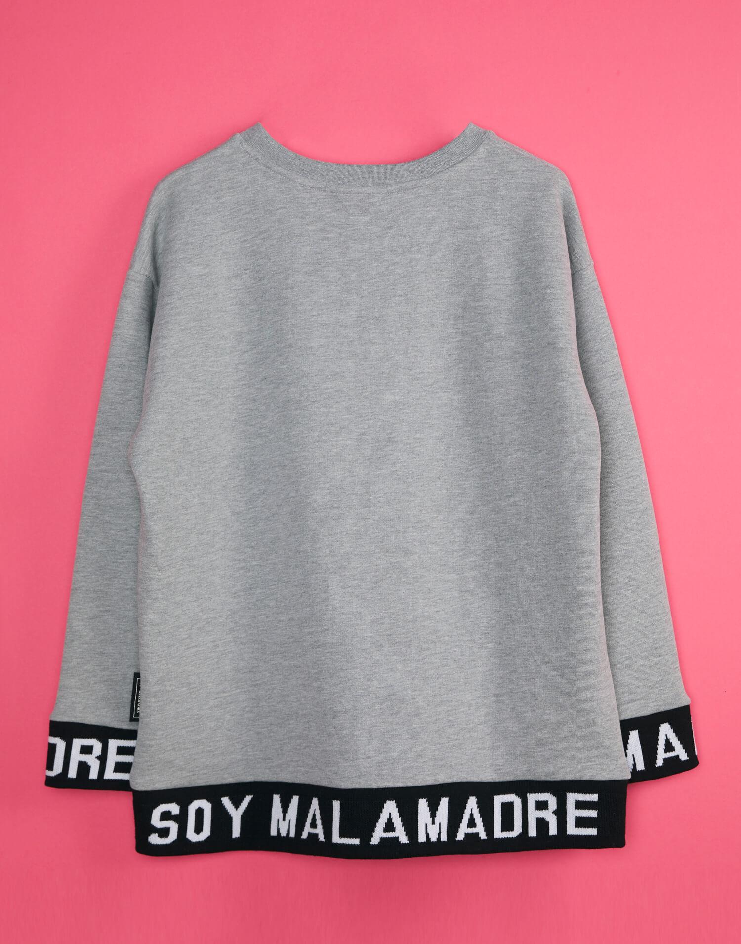 Sudadera gris 'Soy Malamadre'