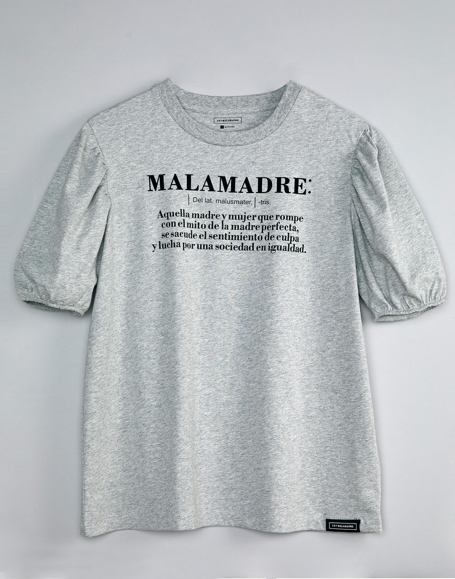 Camiseta gris 'Definición Soy Malamadre'