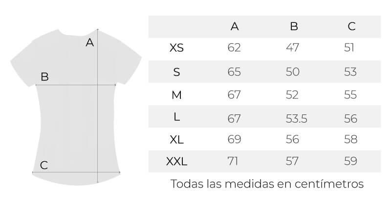 Guía de tallas cami Definición