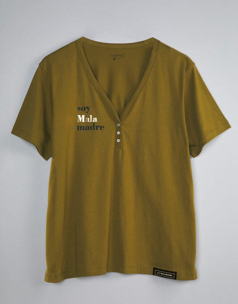 camiseta malamadre verde soy malamadre