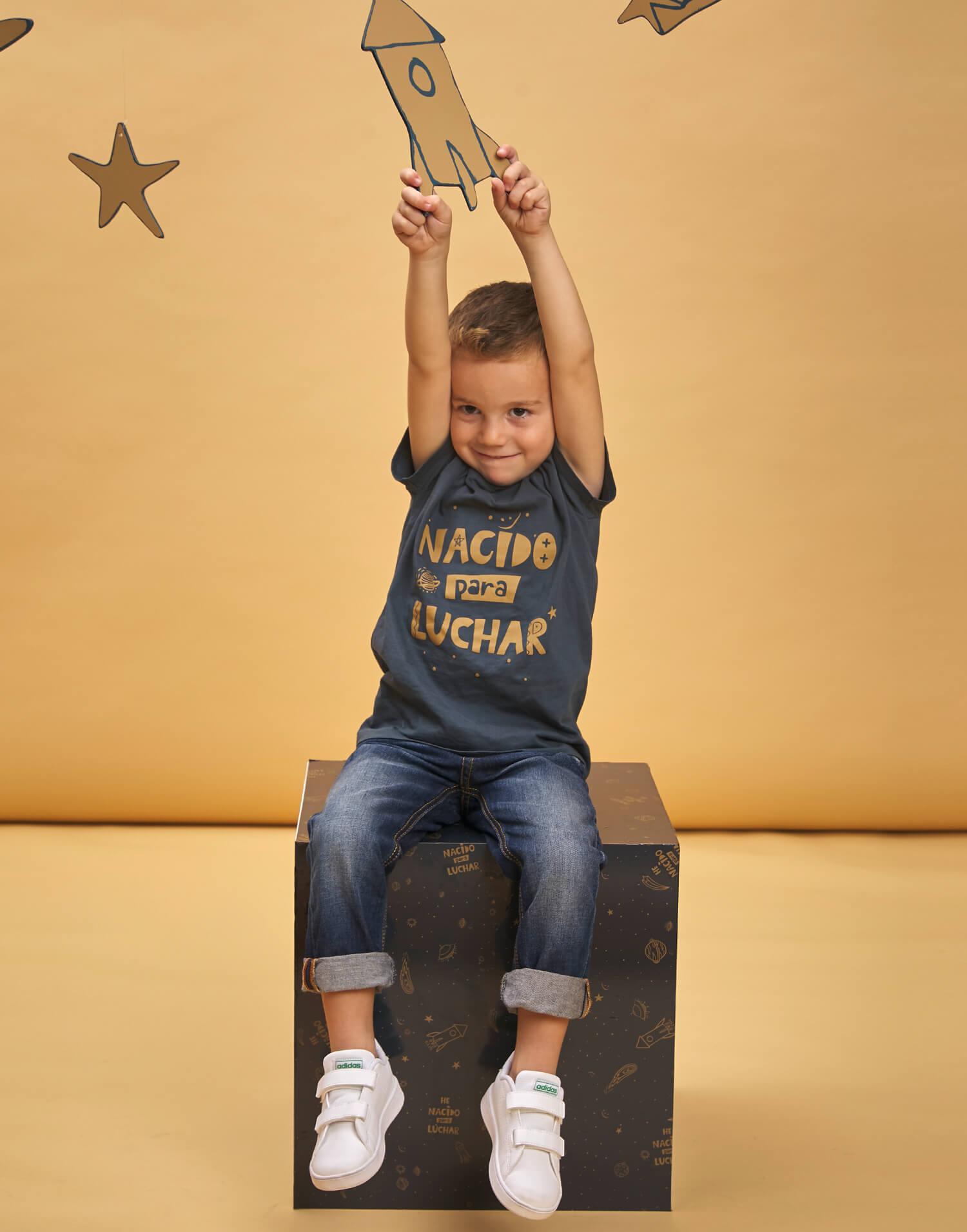 Camiseta de niño 'Nacido para luchar'