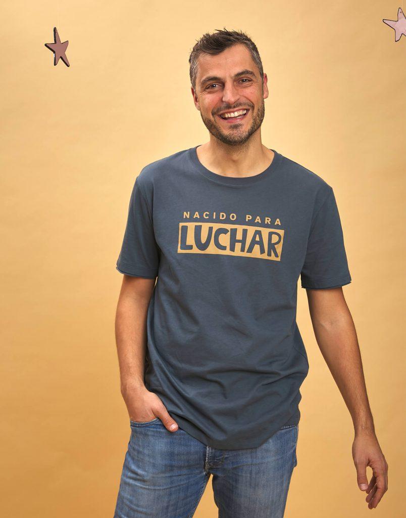 camiseta hombre nacido para luchar