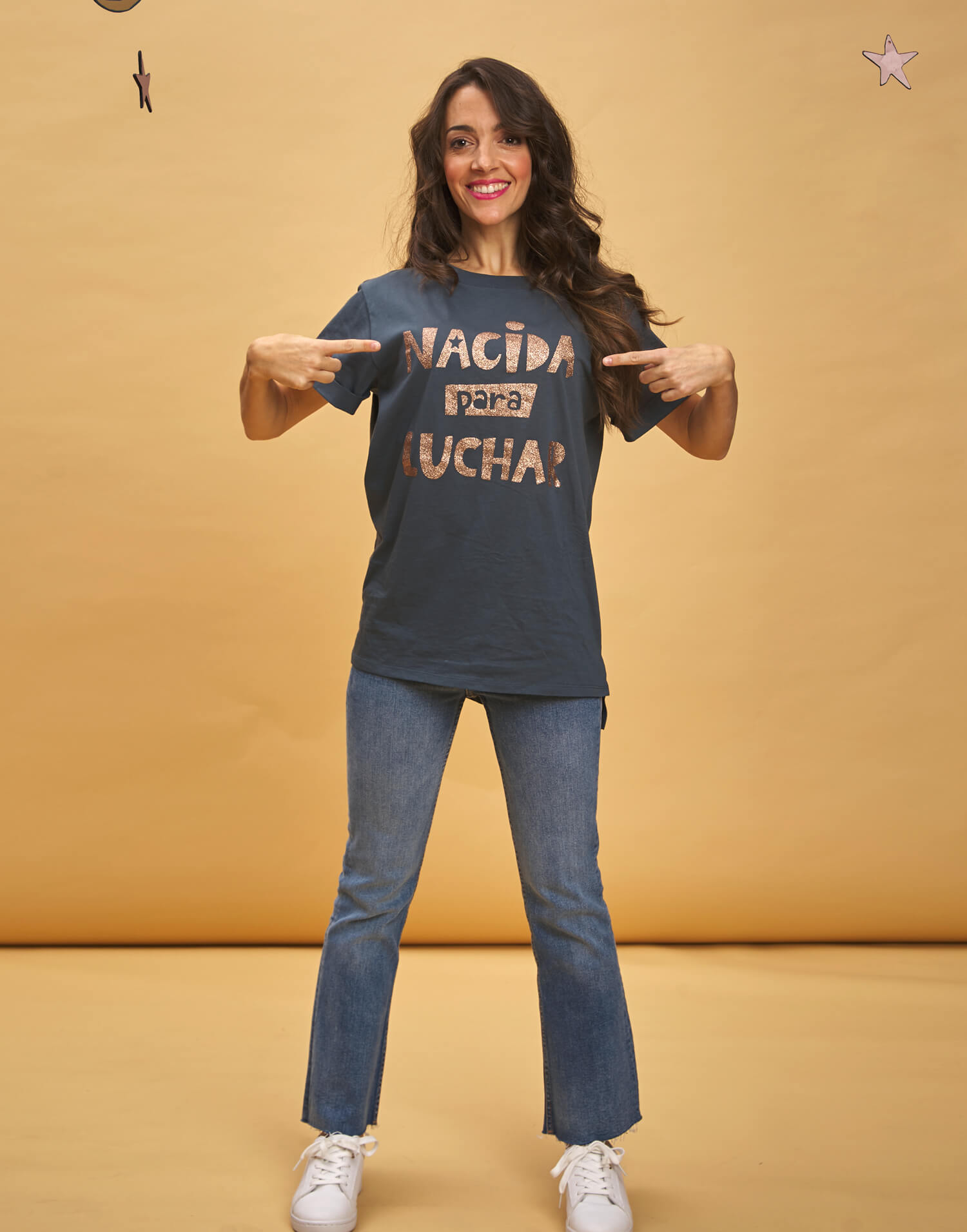 Camiseta de mujer 'Nacida para luchar'