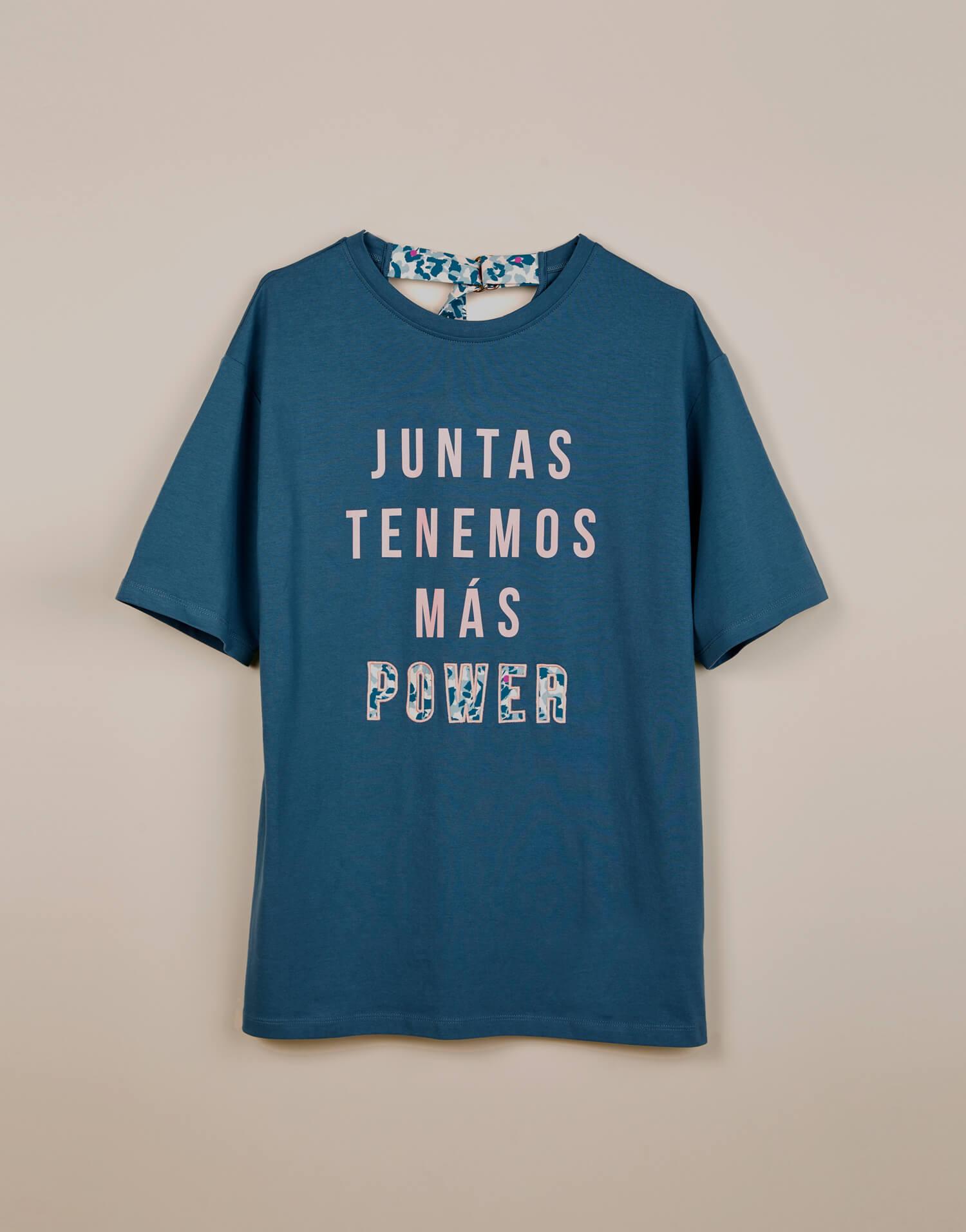 Camiseta azul 'Malamadre Power'