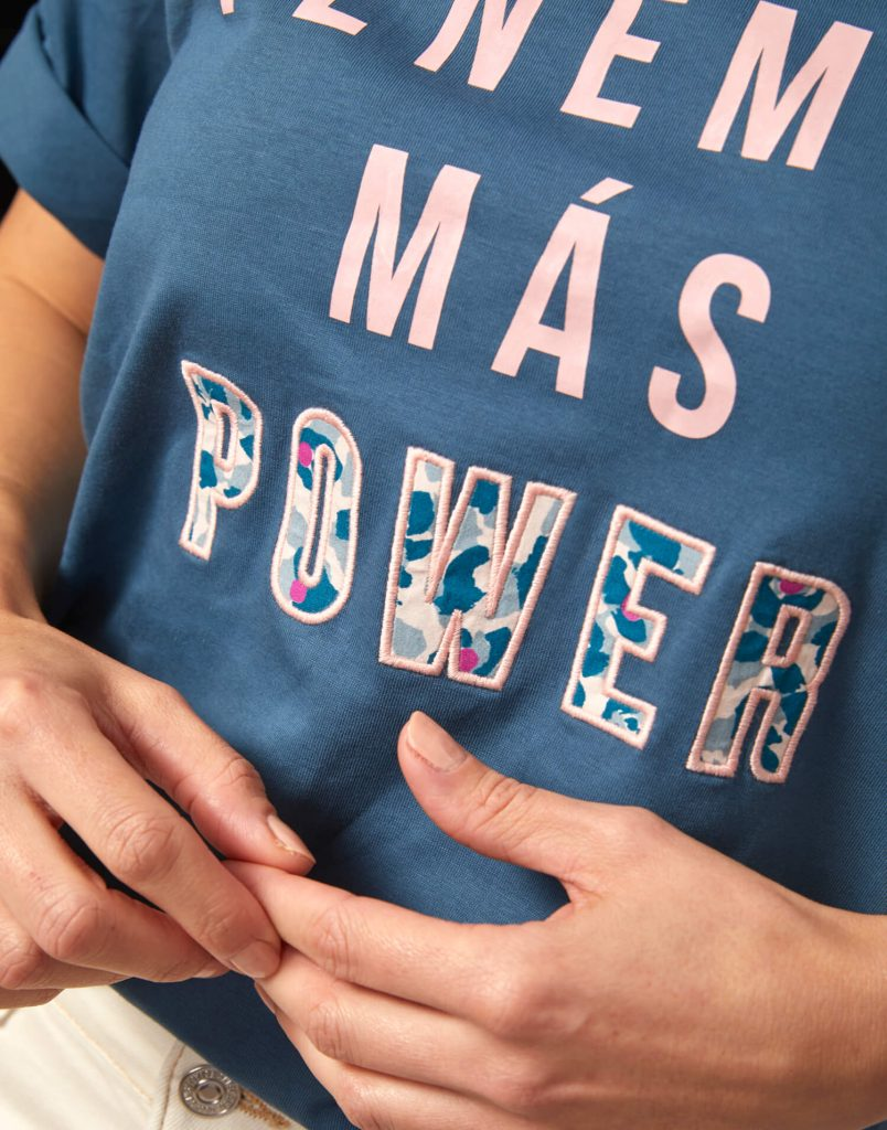 Camiseta azul 'Malamadre Power'
