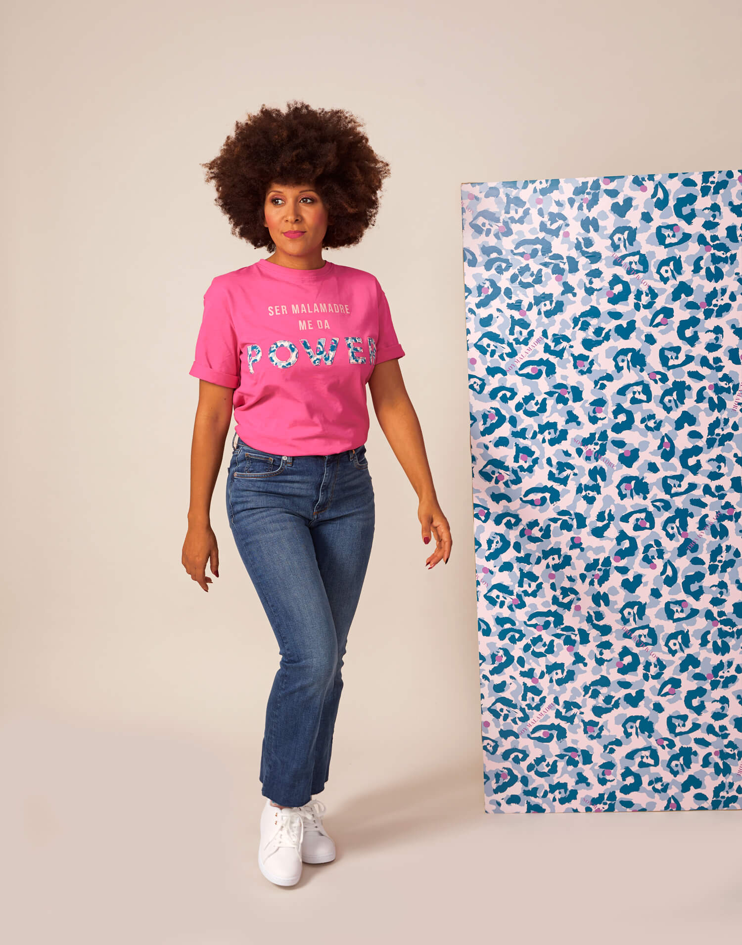 Camiseta rosa 'Malamadre Power'