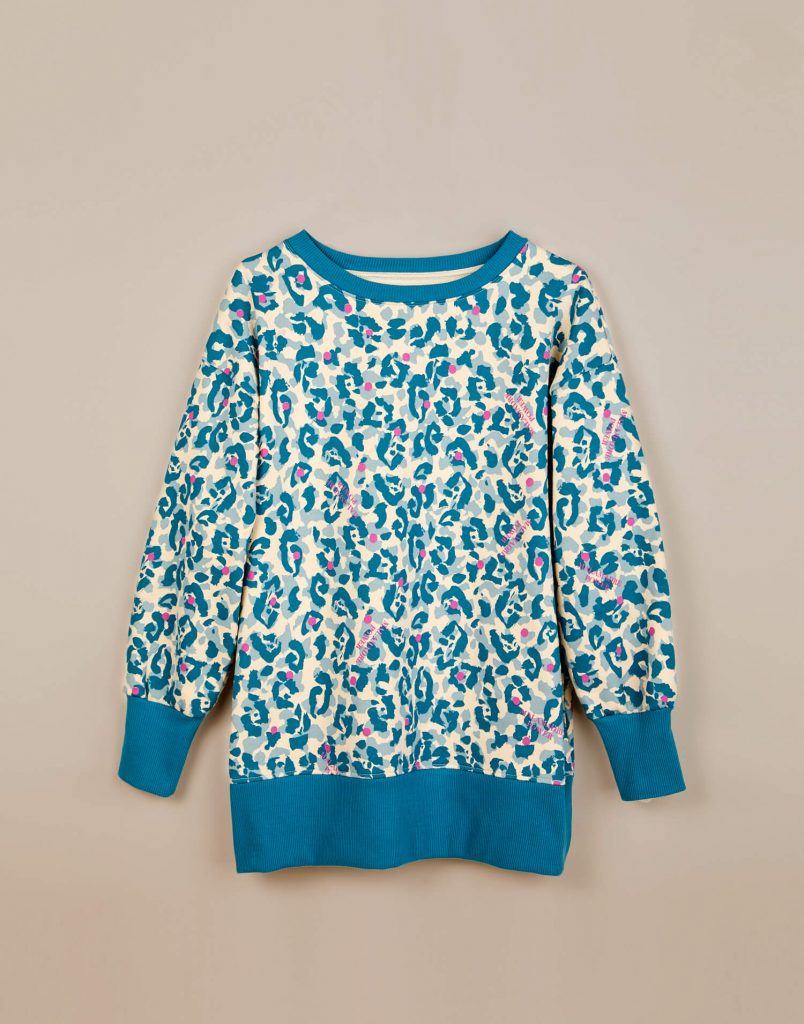 Sudadera azul animal print 'Malamadre Power'