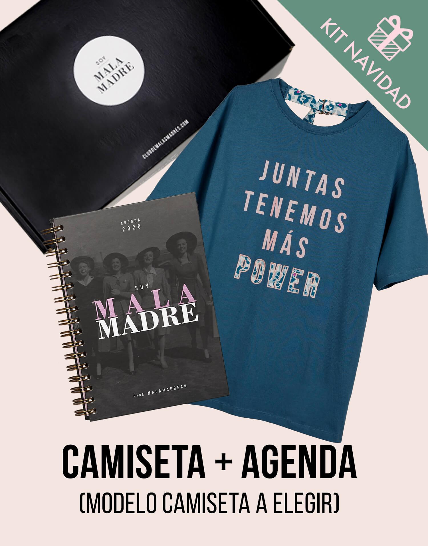 Kit  camiseta Malamadre con Agenda 2020