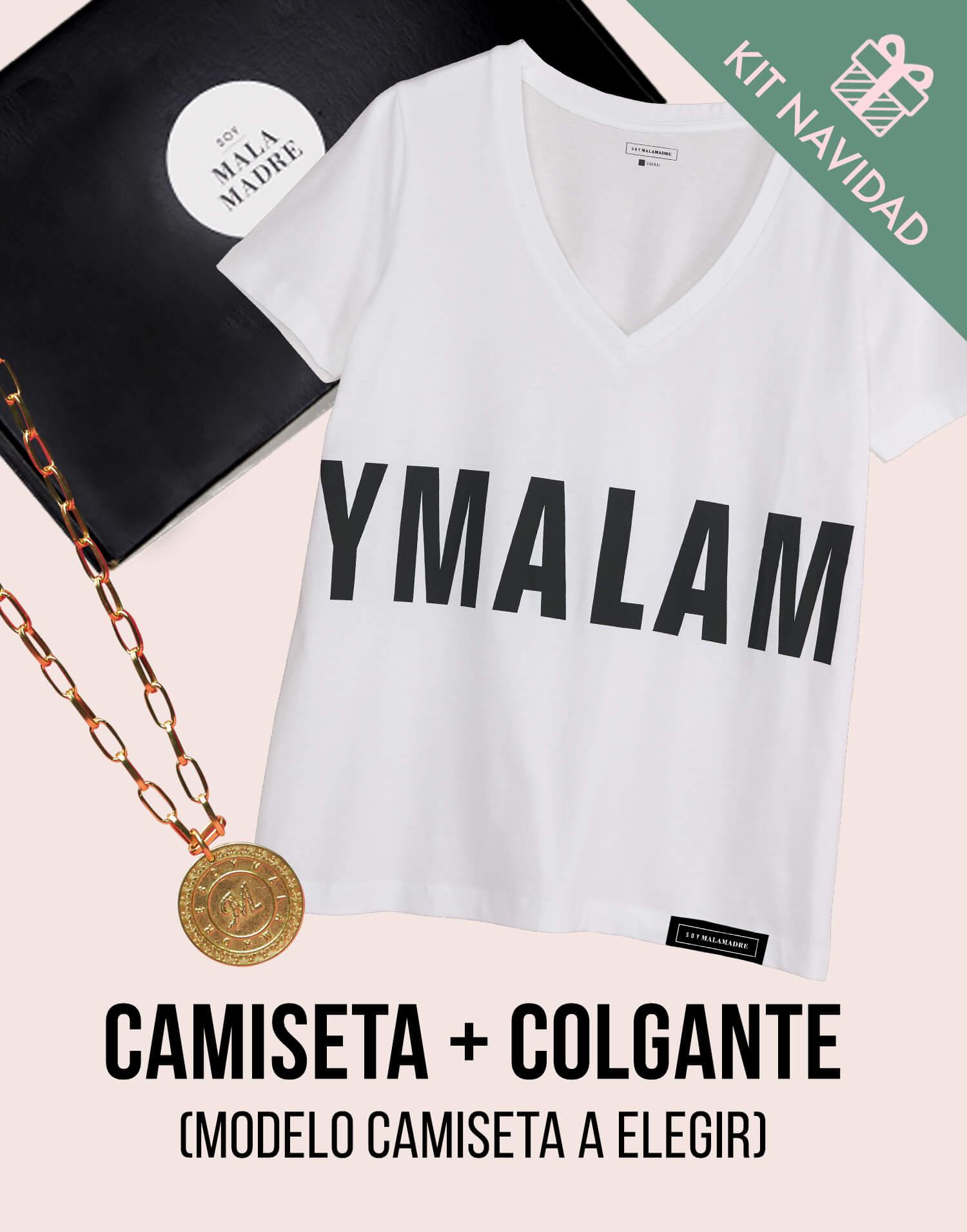 Kit camiseta con colgante 'Soy Malamadre'