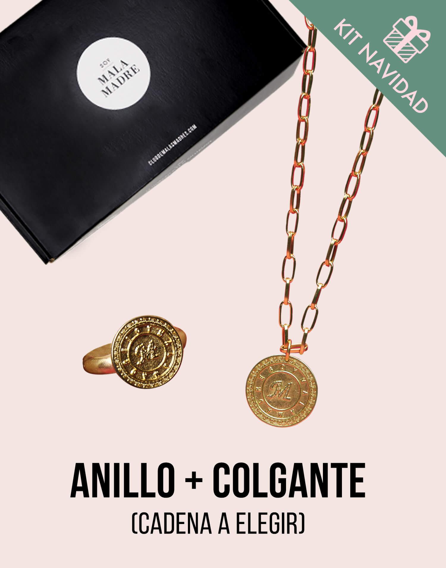 Kit colgante medalla 'Soy Malamadre' con anillo