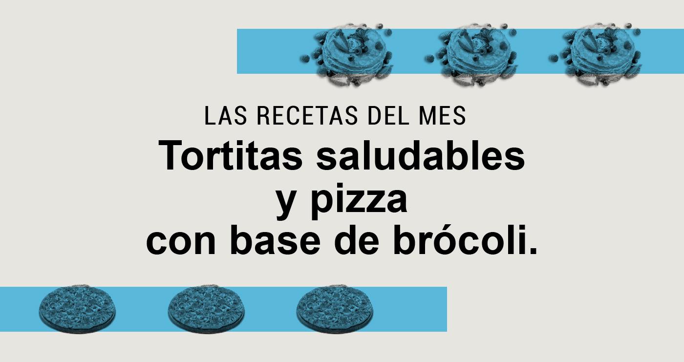 tortita y pizza de brocoli