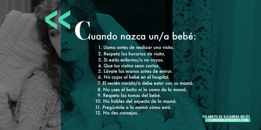 las 12 normas para visitar a un recién nacido