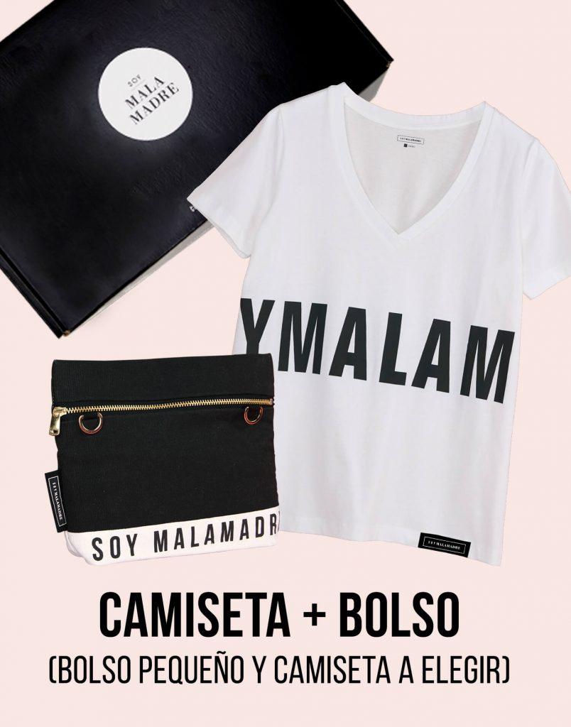 Kit bolso de mano pequeño con camiseta Soy Malamadre