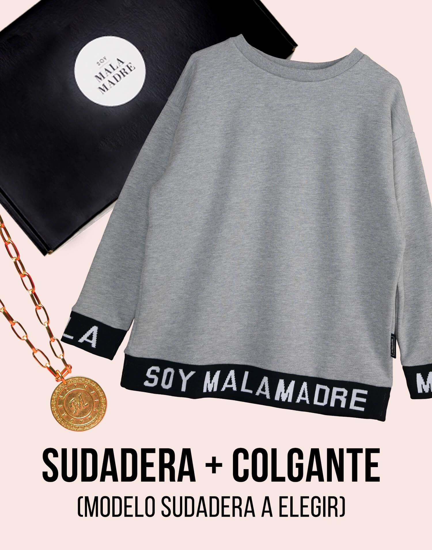 Kit  sudadera con colgante medalla 'Soy Malamadre'