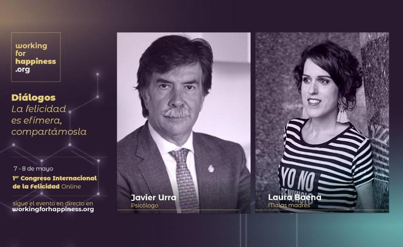Laura dialoga con Javier Urra en el I Congreso de la Felicidad
