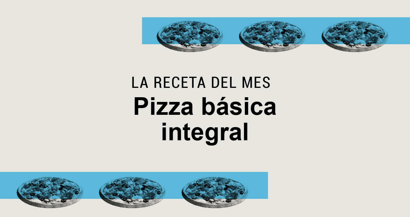 pizza integral basica