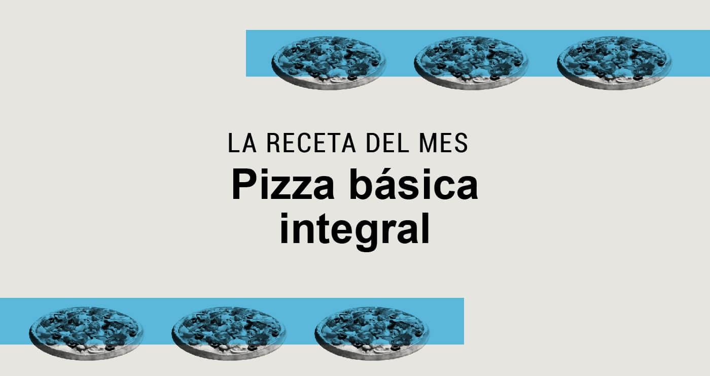Pizza básica integral