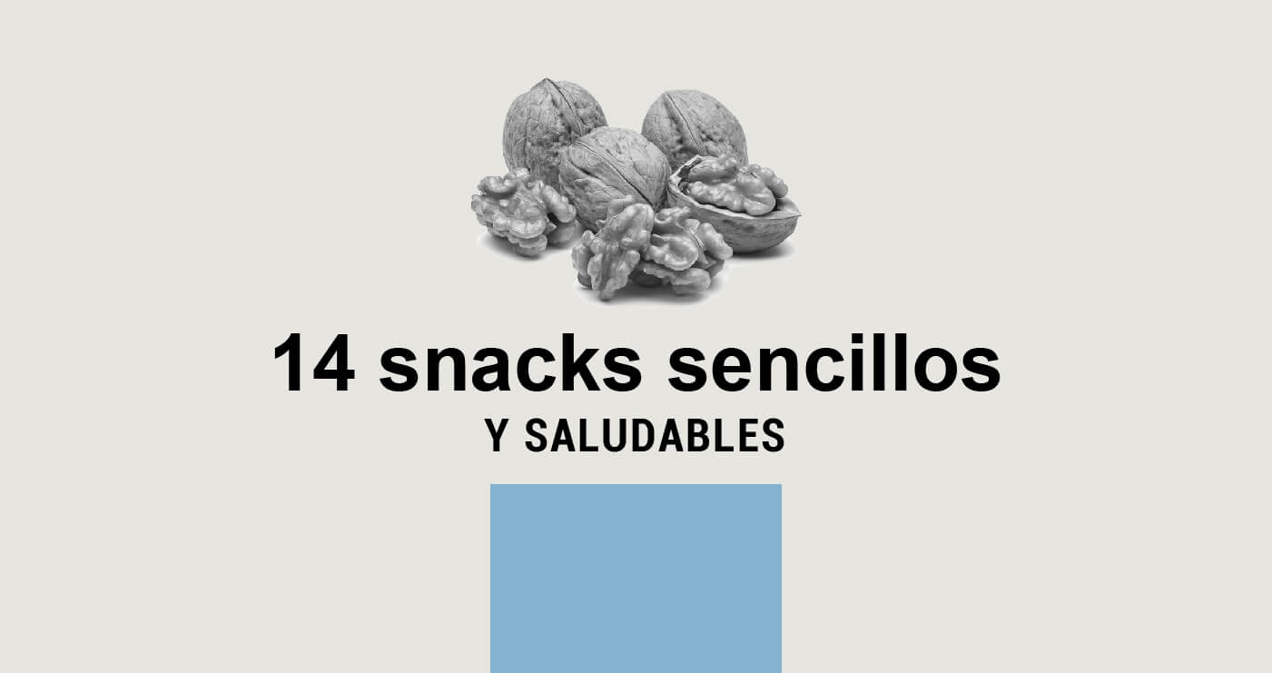 14 snacks saludables
