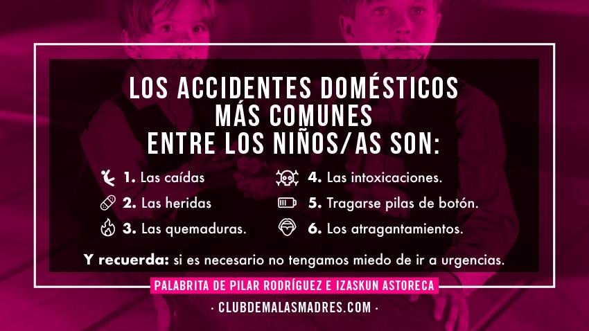 Los accidentes domésticos en niños y niñas