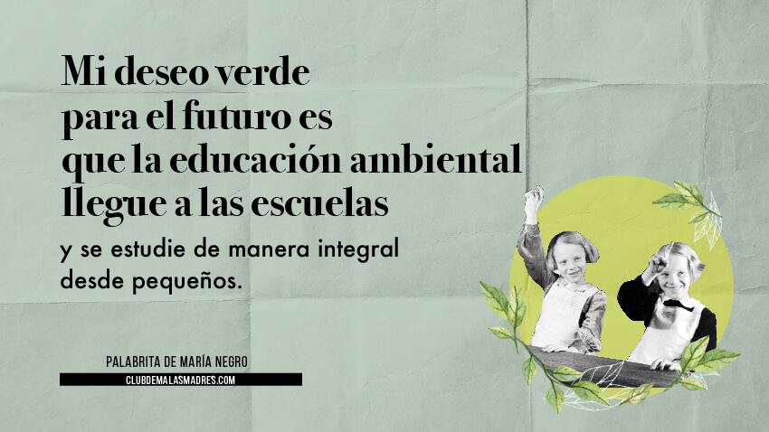 Educación del medio ambiente en el colegio