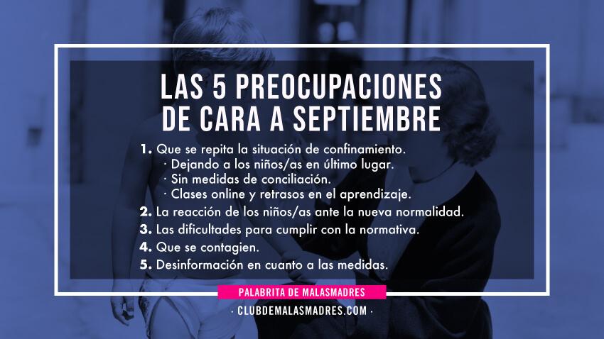 5 principales inquietudes de cada a septiembre