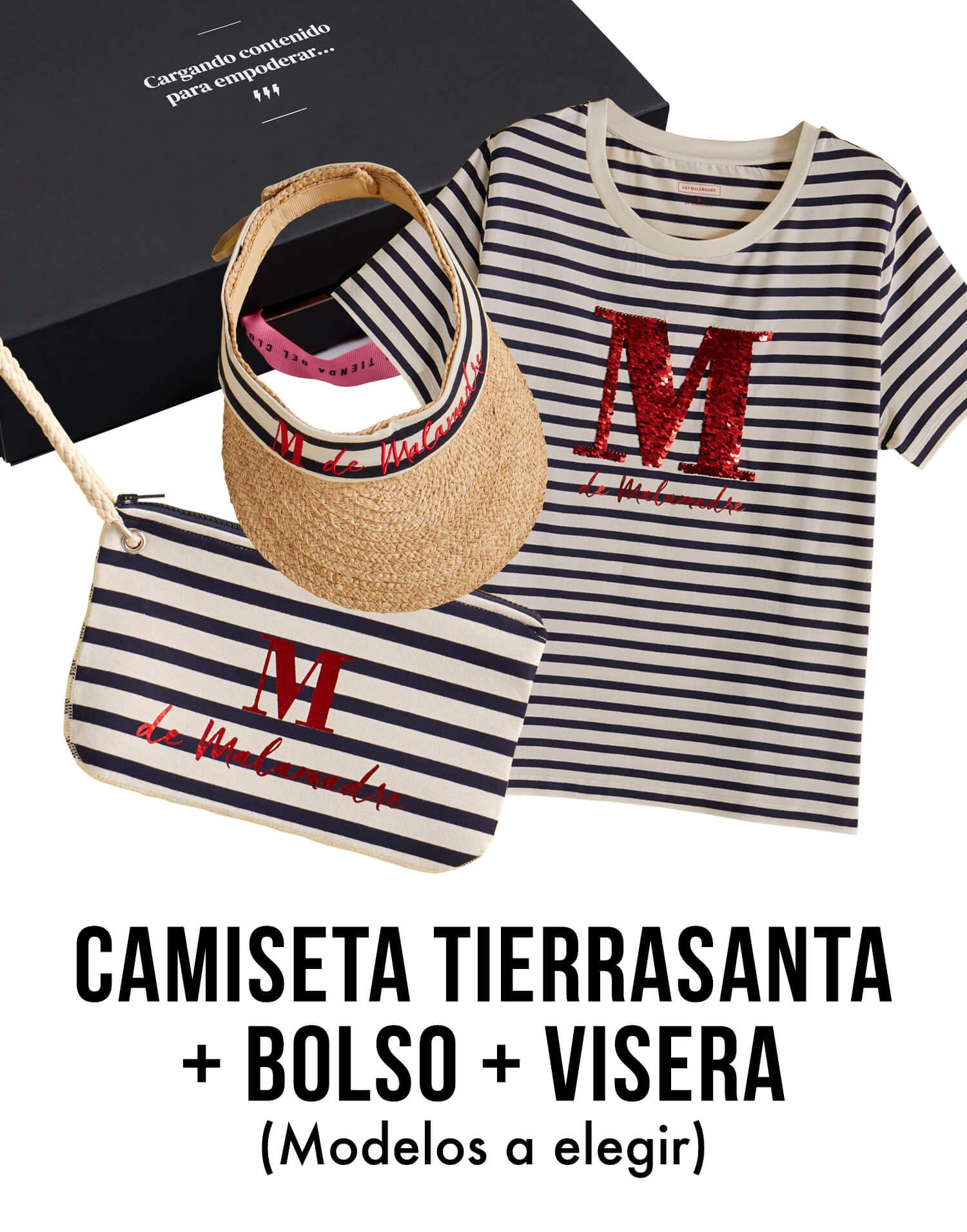 Kit Tierrasanta con camiseta, bolso y visera