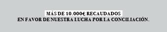 Más de 10.000€ recaudados