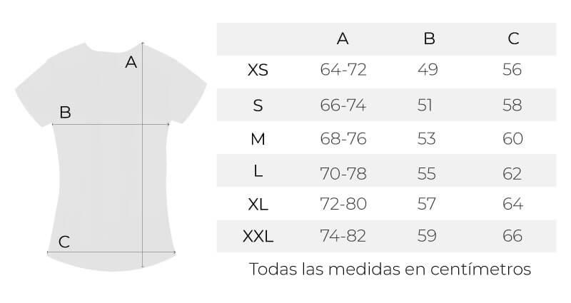 Guía de tallas camisetas de la nueva colección solidaria por la conciliación