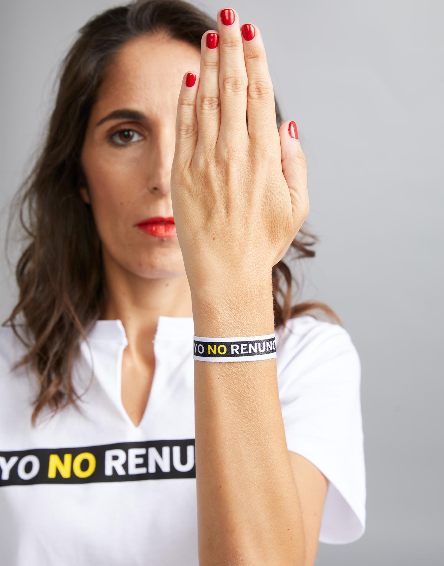Pulsera Blanca Yo No Renuncio