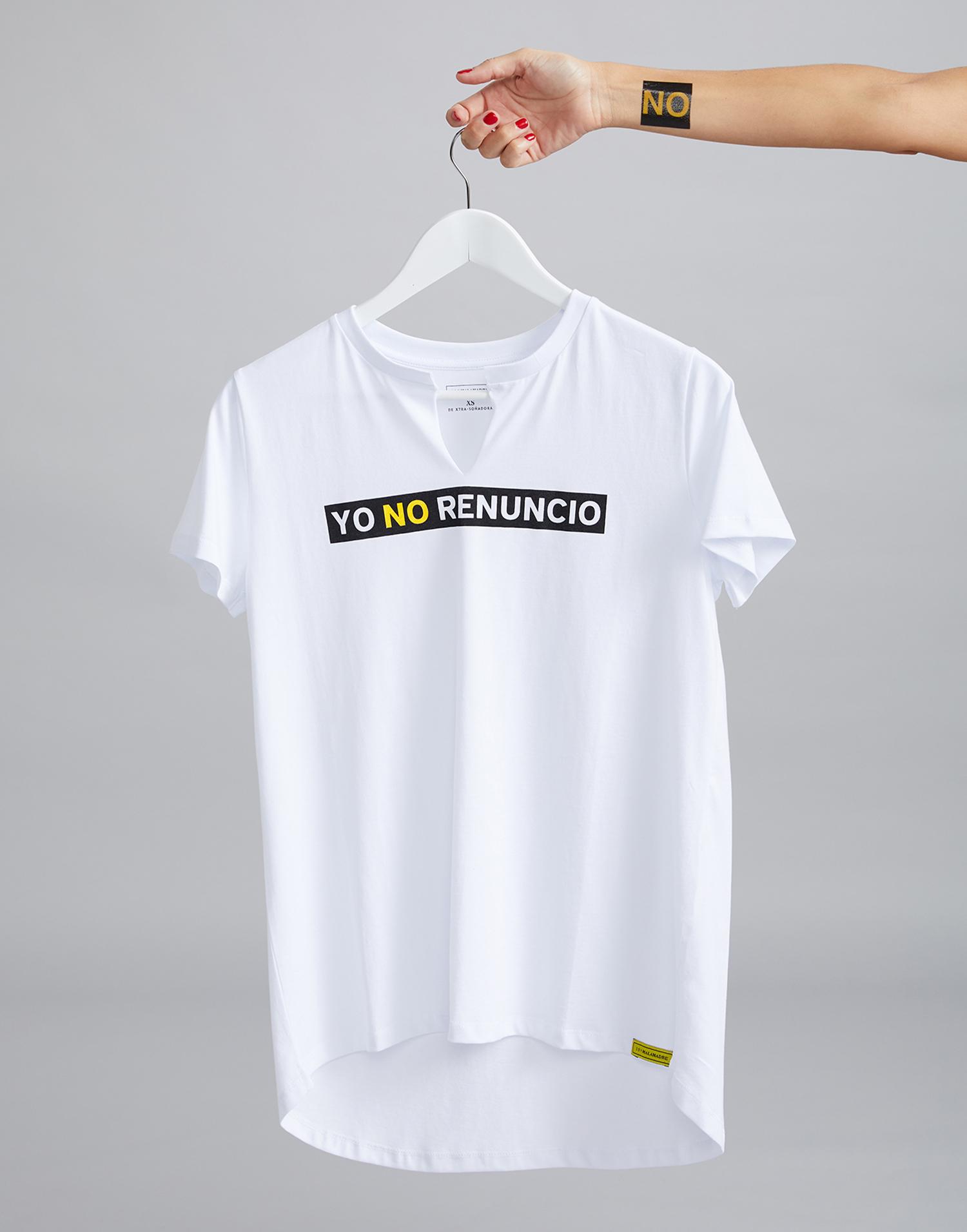 camiseta blanca 'Yo NO Renuncio'