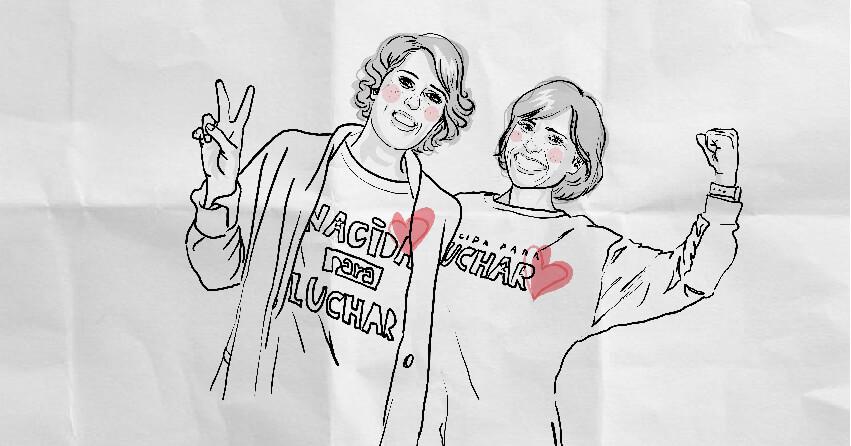 Dibujo de Laura y Raquel