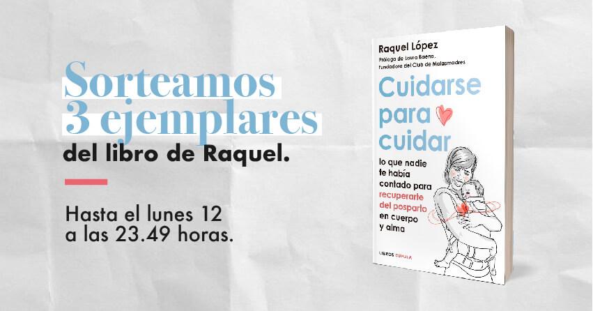 Sorteo de 3 ejemplares del libro de Raquel