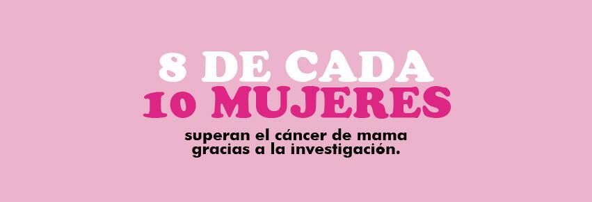 8 de cada 10 mujeres han sobrevivido al cáncer de mama