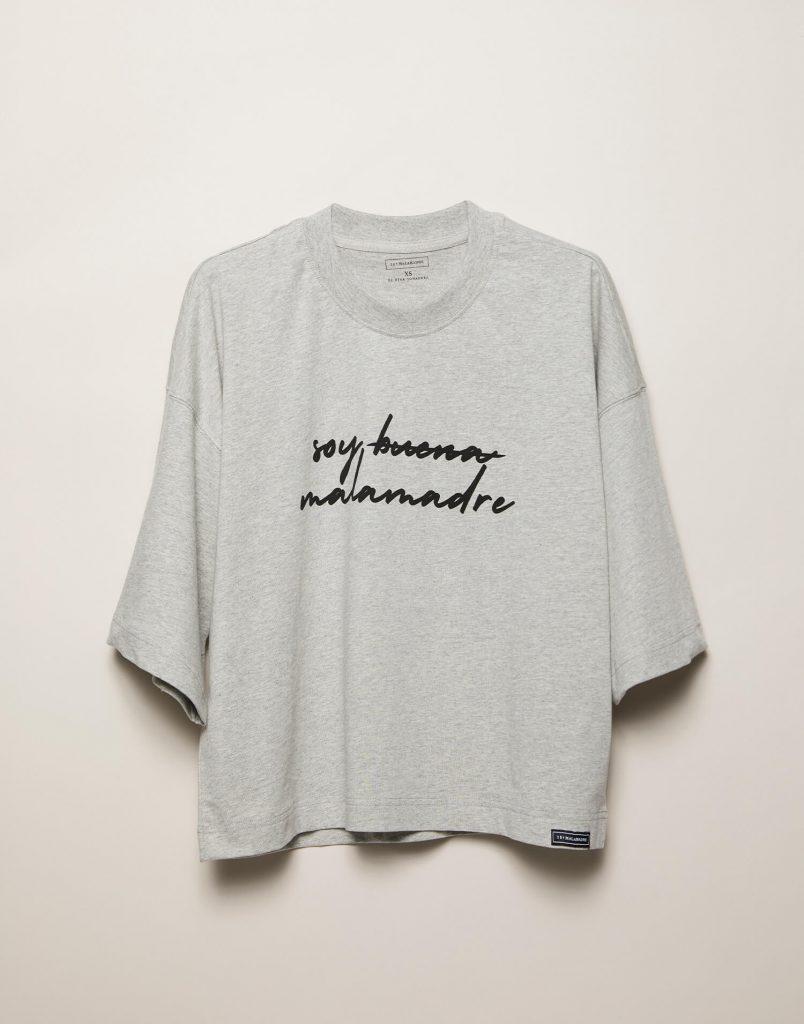 Camiseta gris Soy buena Malamadre
