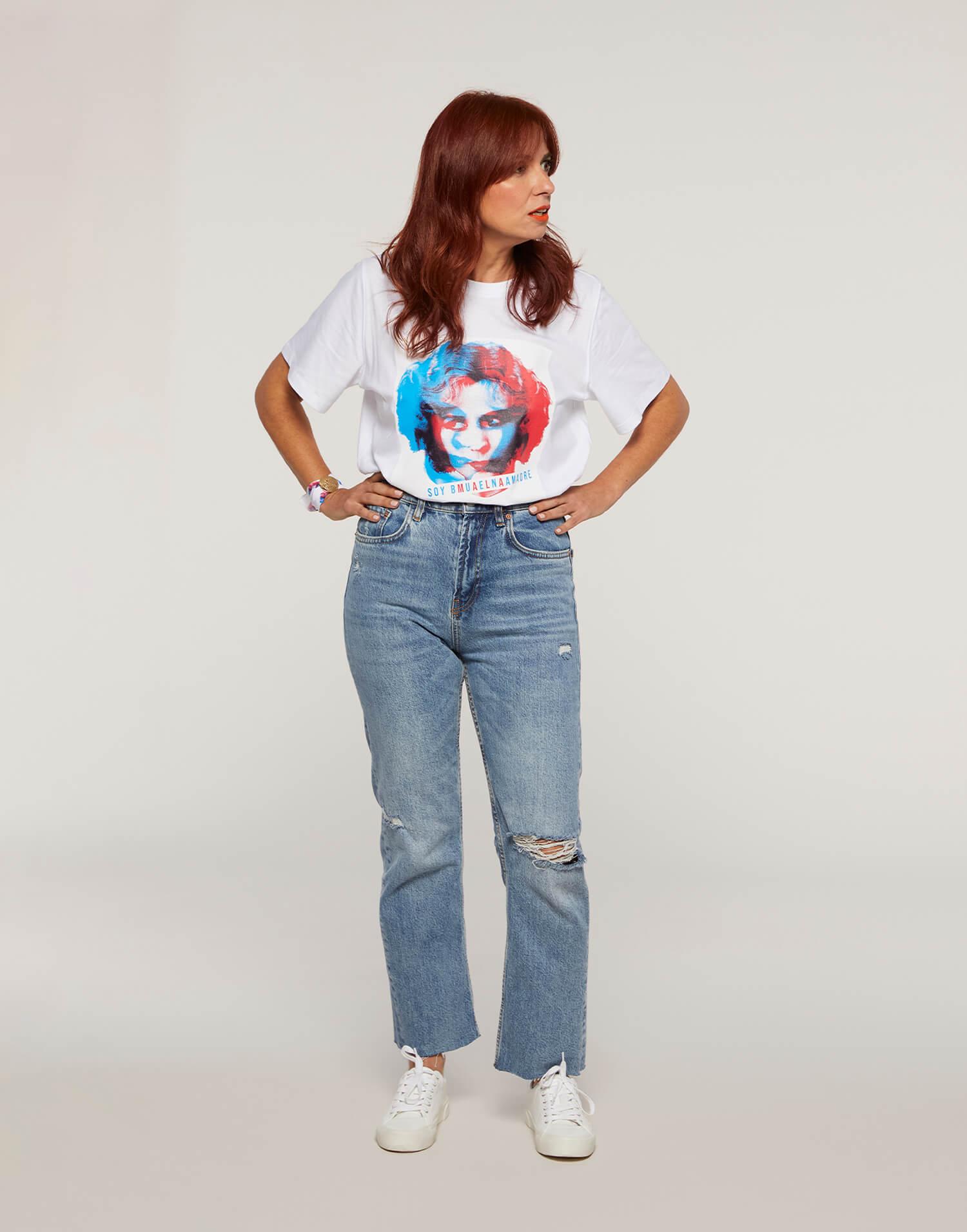 Camiseta cara 'Soy buena Malamadre'