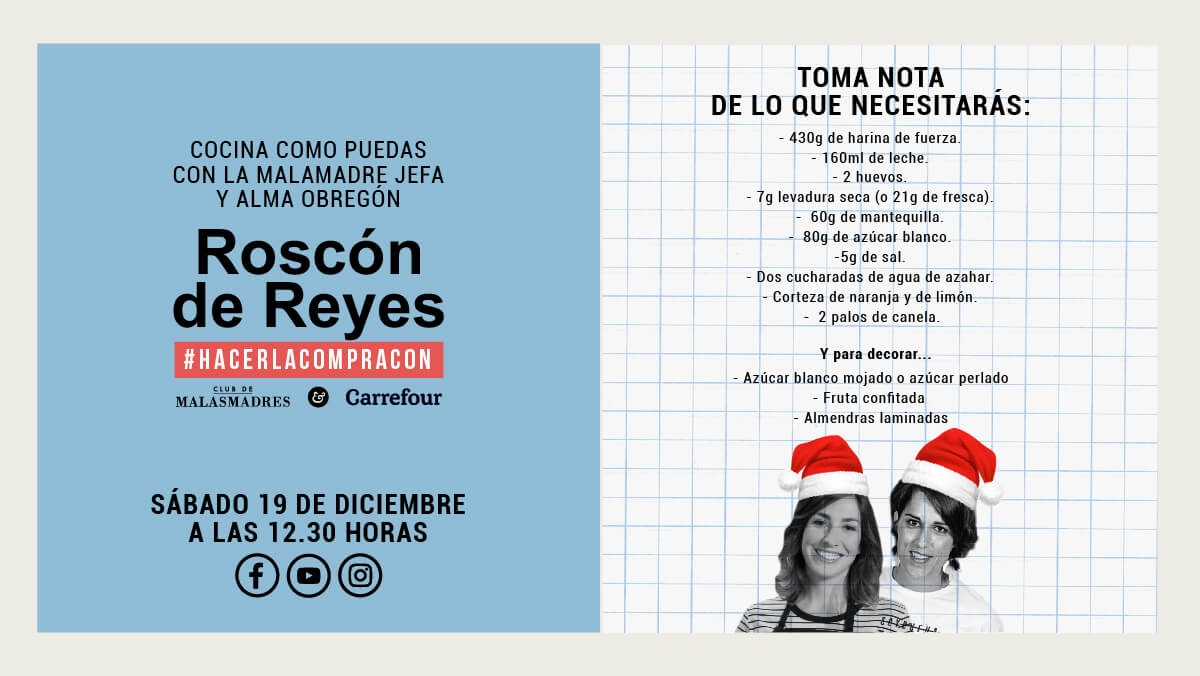 Receta de Roscón de Reyes, en Directo con Alma Obregón.